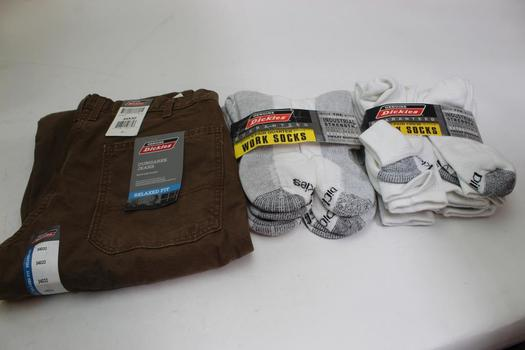 Dickies Pants And Socks, Size 34x32, 3 Pieces