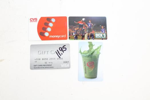 dick s sporting goods gift card dick s sporting goods and other gift cards 4 pieces 52 4807