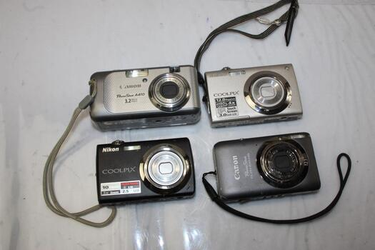 Digital Camera Bulk Lot (4 Pieces)