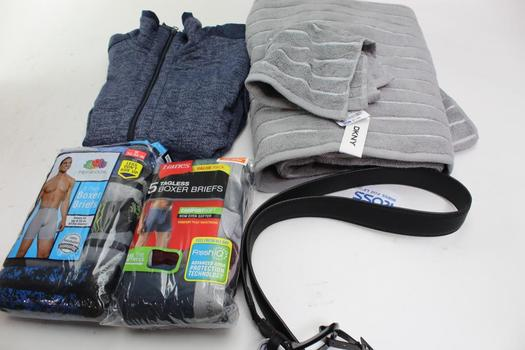 Dkny, Chrome, Hanes, Fruit Of The Loom, Studio8t Clothing Lot And Towels, 6 Pieces