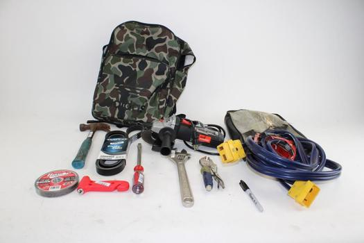 Drill Master Grinder, Dayco Polyrib Timing Belt, & More In Adidas Backpack; 4+ Pieces