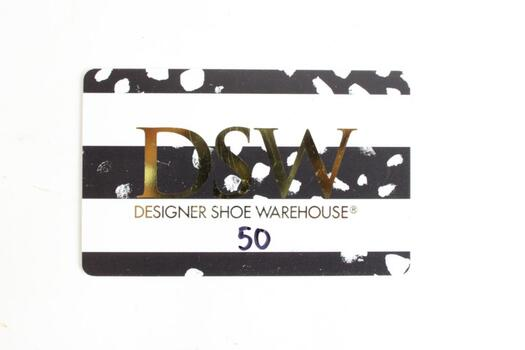 DSW Gift Card, $50.00