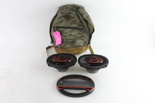 Dual Car Speakers With Element Backpack, 3 Pieces