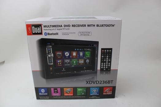 Dual Multimedia Dvd Receiver W/Bluetooth