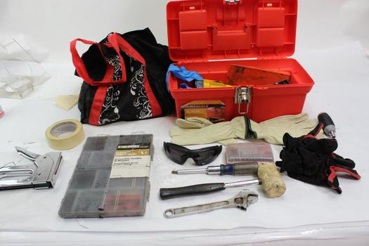Durabuilt Tool Box With Stanley, Craftsman, Steelworks+ More Assorted Tools 10+ Pieces