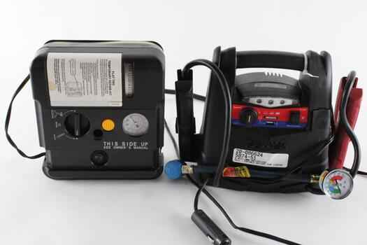 Duralast Portable Jumpstarter, And Tire Inflator, 2 Pieces