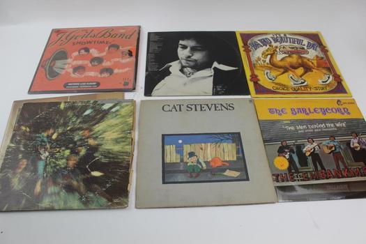 Duran Duran, Bob Dylan, & More Assorted Vinyls; 5+ Pieces