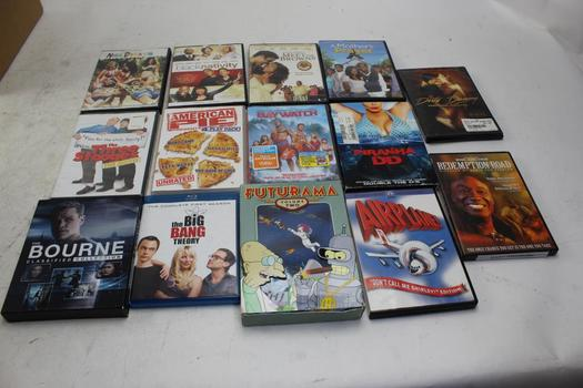 Dvd Movies: Airplane!, Piranha DD, Three Stooges And More: 10+ Items