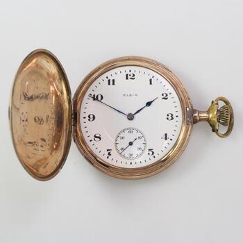 Elgin 10k Gold Plate Pocket Watch