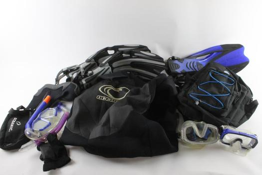 Evo Scuba Backpack And More, 11 Pieces