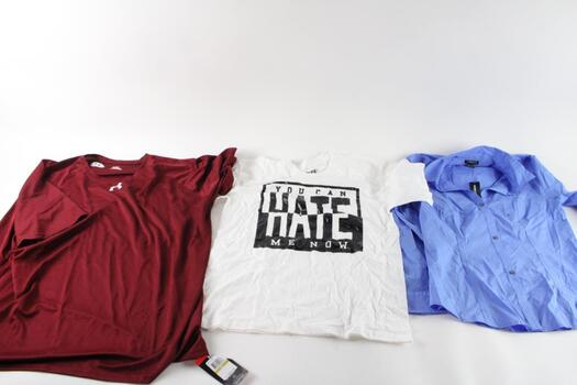 Express And Other Shirts, M, L, And 4XL, 3 Pieces