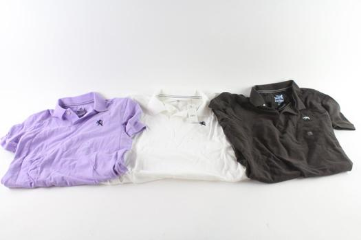 Express Polo Shirts, M And L, 3 Pieces