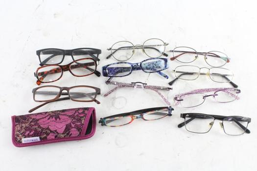 Eyeglasses Bulk Lot, 11 Pieces