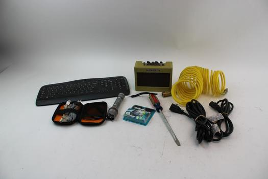Fender Mini Twin Amp, Wireless Keyboards, Assorted Cables & More; 10+ Pieces