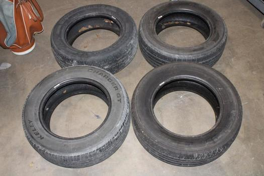 """Firestone And Other 16"""" Tires, No Rims"""