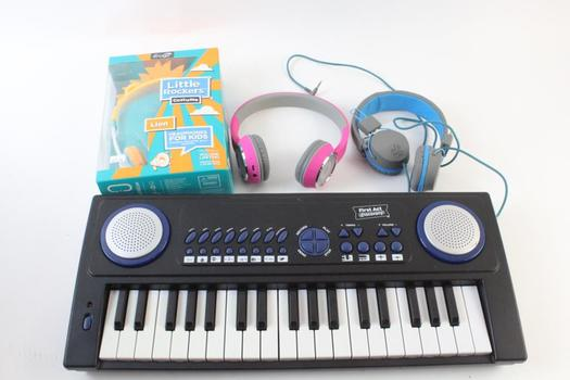 First Act Discovery Electric Keyboard And More, 4 Pieces