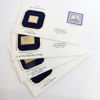 First Day Of Issue Replica Stamps, 4 Pieces