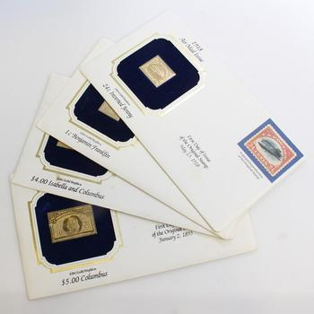 First Day Of Issue Replicas Stamps, 4 Pieces