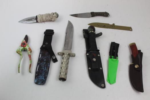 Fixed Blade Knives: Buck, Ka-Bar, Skyhawk And More: 5+ Pieces