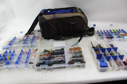 Flambeau Backpack, Tackle Boxes, Fishing Lures: 5+ Items