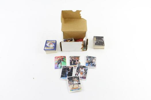 Fleer, Topps, Upper Deck, Football, Basetball And Other Trading Cards, 50+ Pieces
