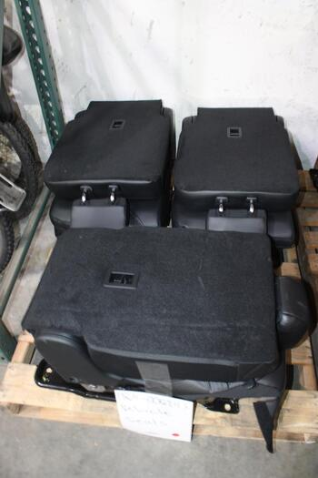 Ford Backseat Set Of Black Leather Seats