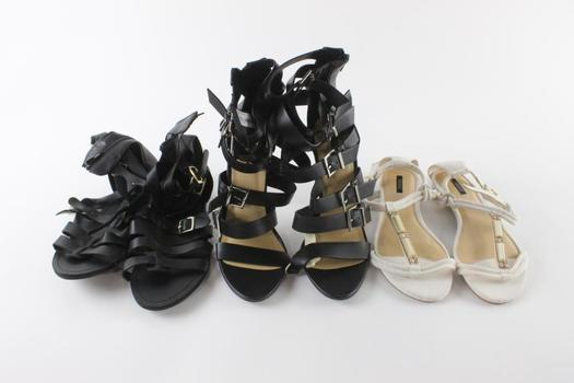 Forever 21 Womens Shoes, Size 8 And 8.5, 3 Pieces
