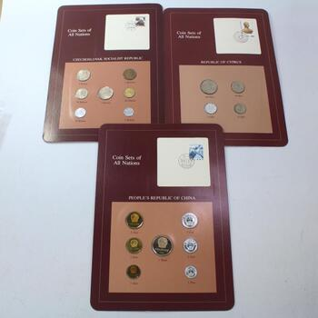 Franklin Mint Coin Sets Of All Nations, 3 Sets