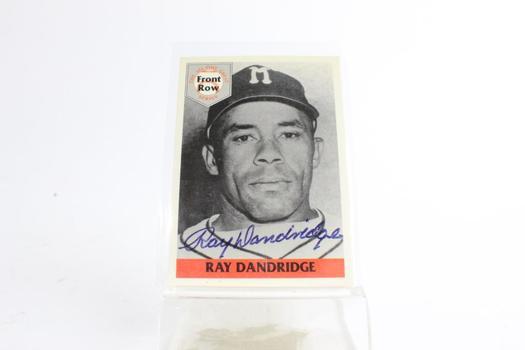 Front Row Ray Dandridge 1992 Card, With Signature