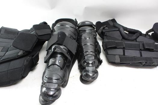 Galls Tactical Vests, And Shin Guards. 4 Pieces