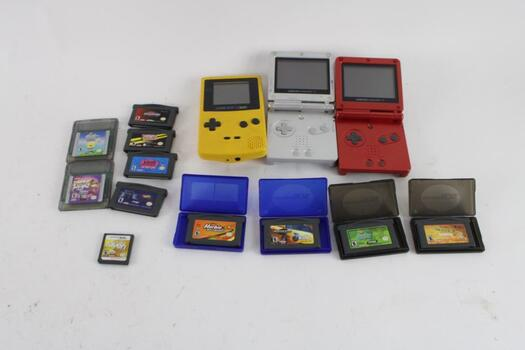 Gameboy Color, And Advance System With Games, 5+ Pieces