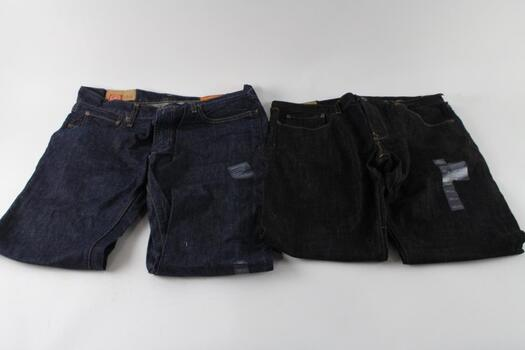 Gap 1969 Jeans, Size 35x32 And 34x34, 2 Pieces