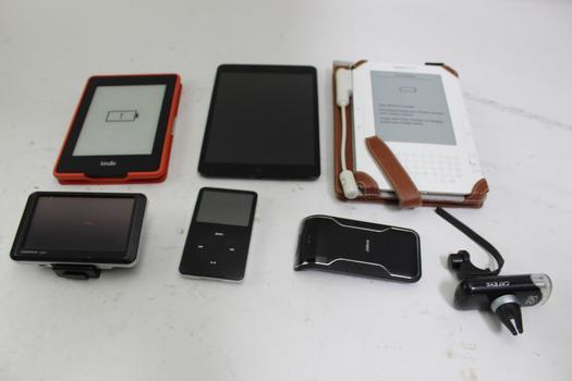 Garmin Gps Navigator, Tablets, Jabra Speaker, Ipod, Philips Travel Monitor: 5+ Items