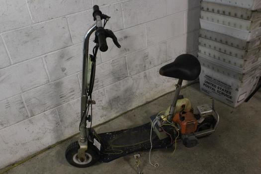 Gas Powered Motorized Scooter, VIN Unknown, Sold For Parts