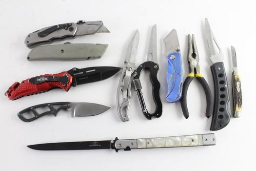 Gerber And Other Knives, 11 Pieces And More