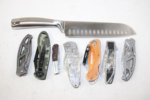 Gerber, Husky And Other Pocket Knives, 7 Pieces