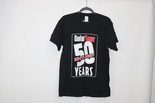 "Gildan Black ""Guitar Player 50 Years 1967-2017"" T-Shirts 5+ Total Size L"