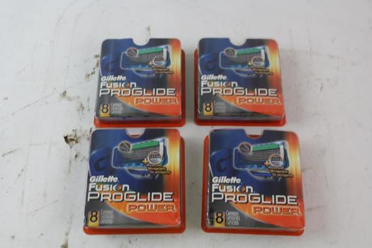 Gillette Fusion ProGlide Power 8-Pack Razor Replacement Cartridges, 4 Pieces