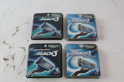 Gillette Mach3 And Mach3 Turbo Replacement Cartridges 8 And 10-Packs, 4 Pieces