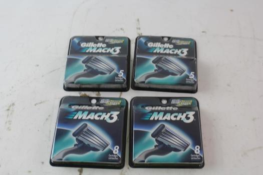 Gillette Mach3 Replacement Cartridges 8 And 5-Packs, 4 Pieces