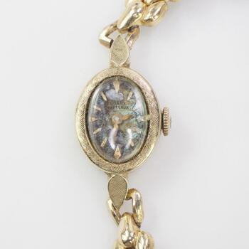 Girard Pepre Gaux 14k Gold Plate Watch