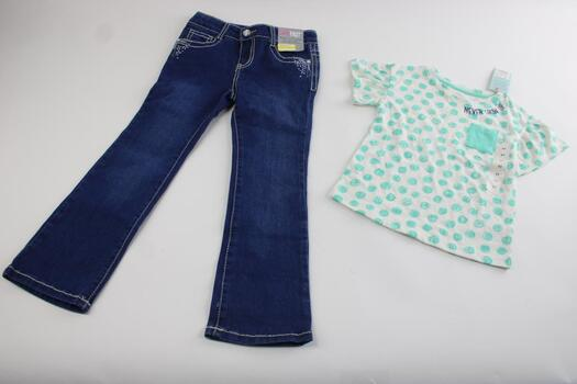 Girl's Shirt 5T And Jeans Size 6