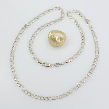 Gold Vermeil Jewelry, 2 Pieces 17.7g