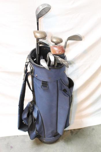 Golf Bag With Clubs, 12 Pieces