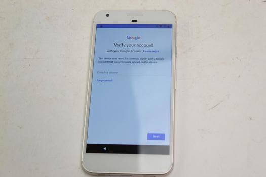 Google Pixel XL, 32GB, Unknown Carrier, Google Account Locked, Sold For Parts