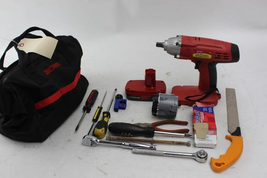 Greatneck Impact Wrench+ More Assorted Tools 10+ Pieces