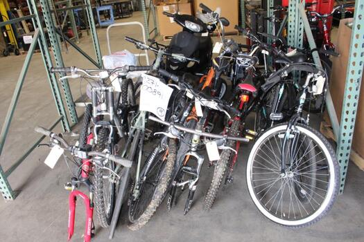Group Of 9 Used Bikes