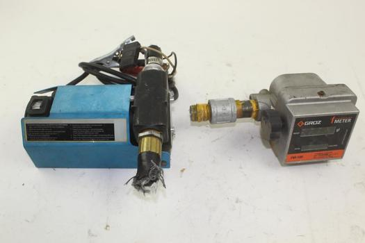 Groz Fm-100b Fuel Meter And Unknown Part: 2 Items