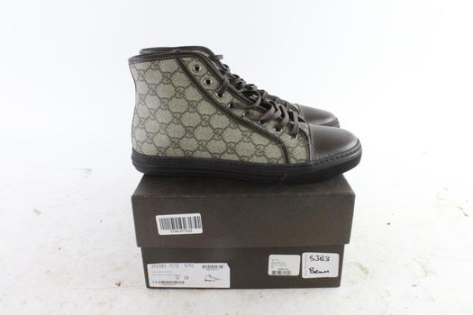 Gucci GG Plus New/Nappa Moorea Shoes, Size 8