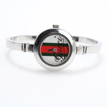 Gucci Striped Dial Bangle Watch